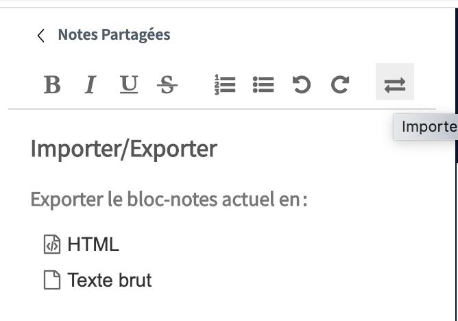 exporter note